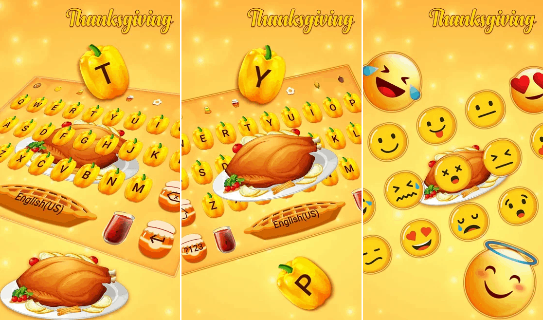 Thanksgiving keyboard best android apps