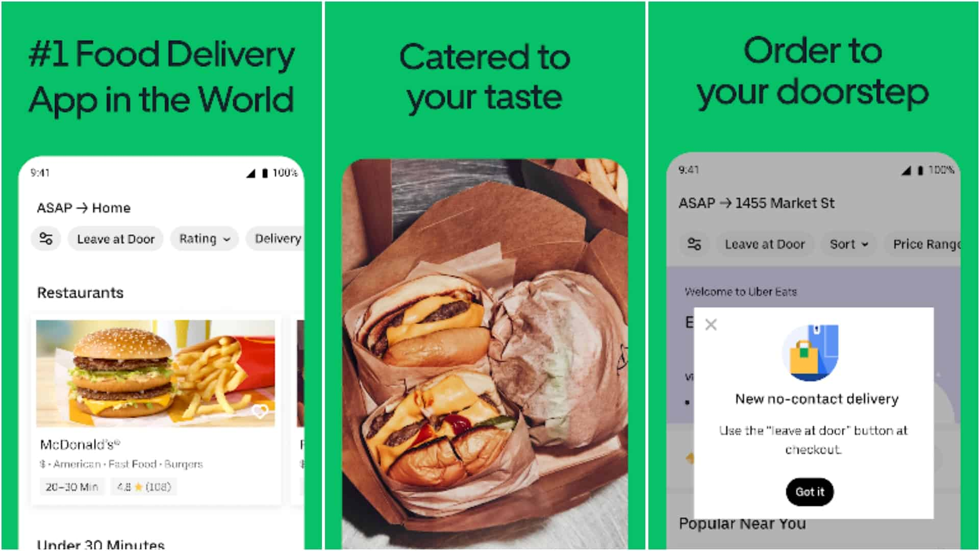 Uber Eats app grid image 1