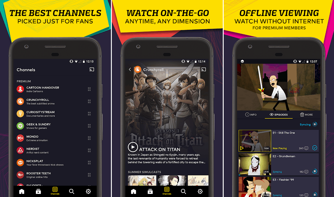 vrv best streaming apps android
