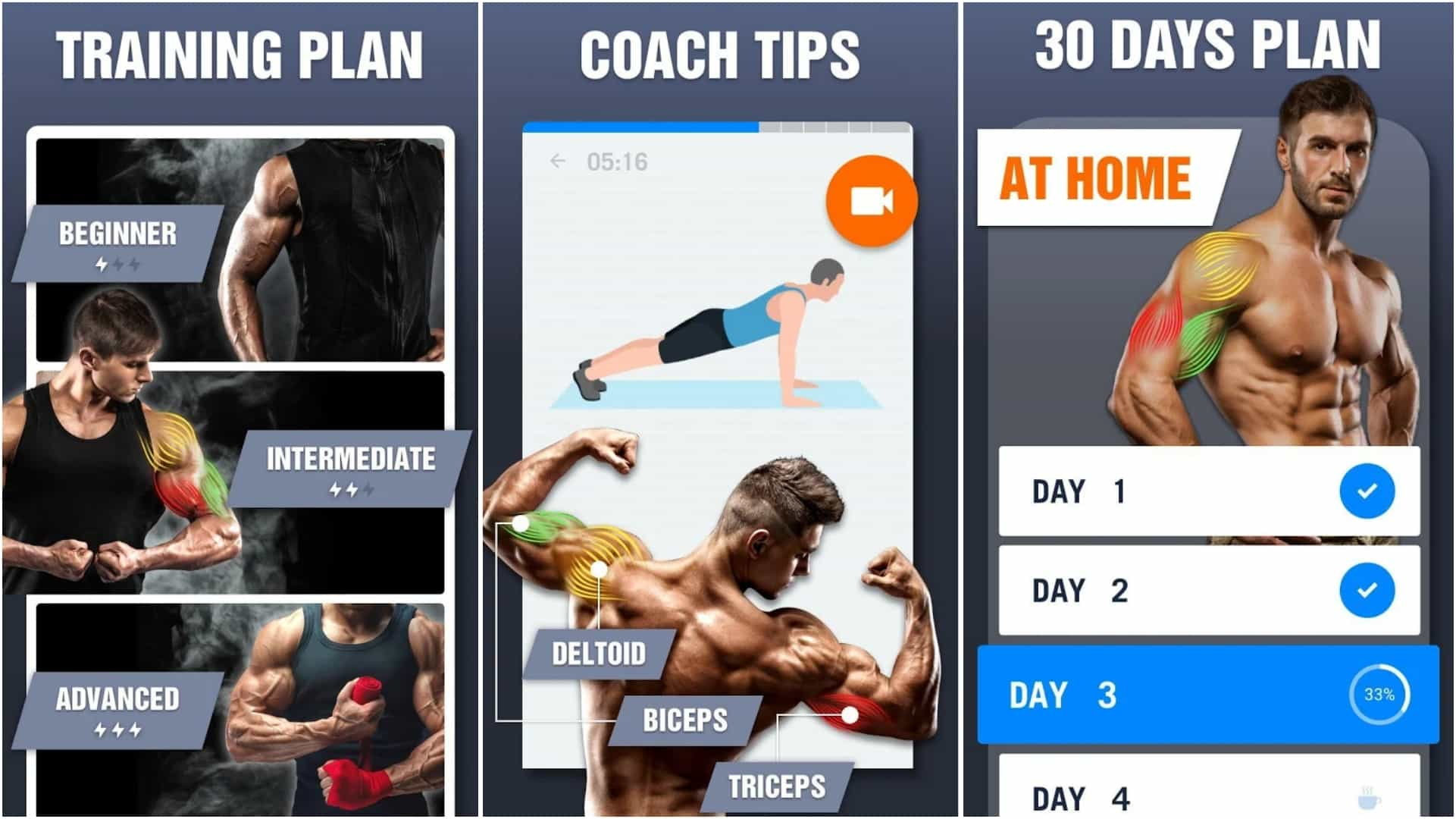 Arm Workout Biceps Exercise app grid