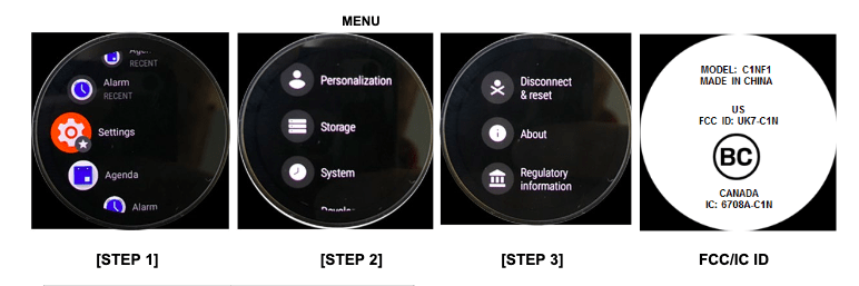 Fossil LTE Smartwatch FCC C1NF11