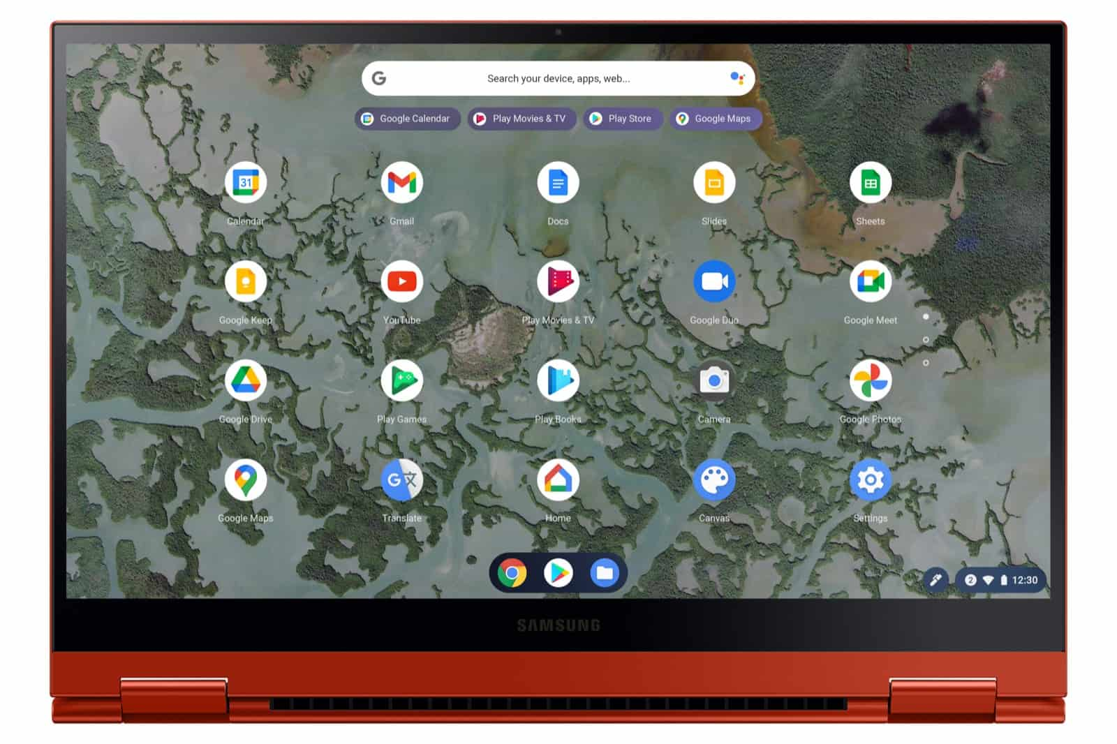 Galaxy Chromebook 2 Front2 Red