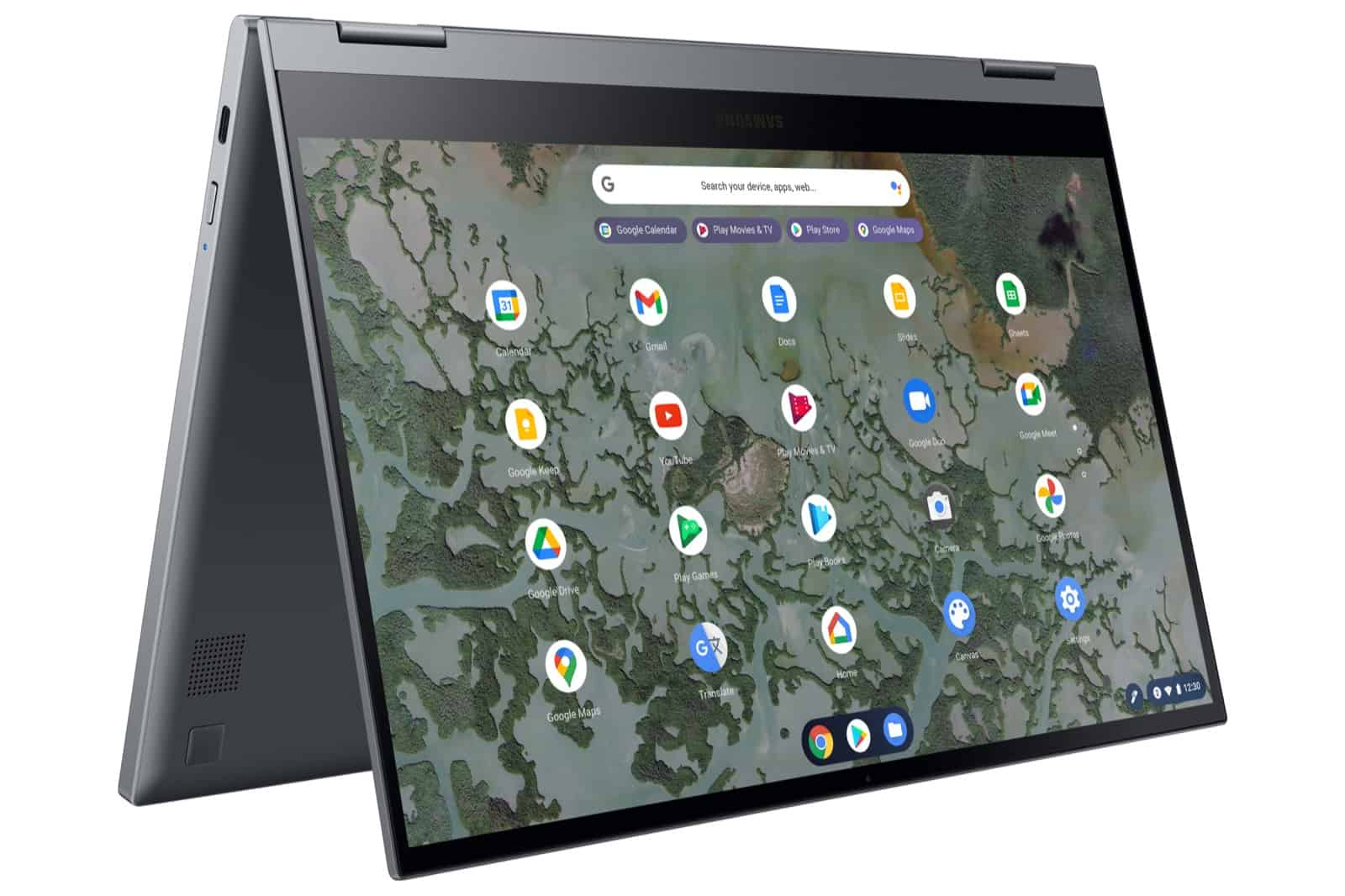 Galaxy Chromebook 2 L Perspective3 Gray