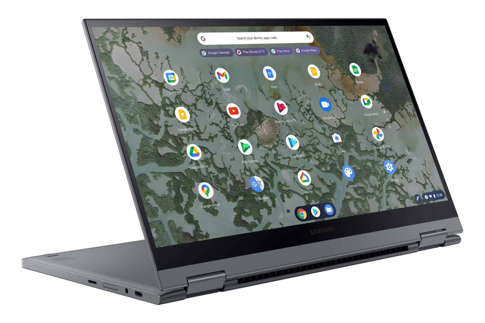 Galaxy Chromebook 2 L Perspective Gray