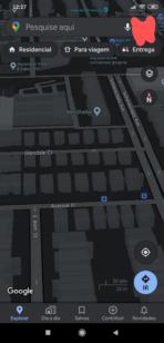 Google Maps dark mode sample 1