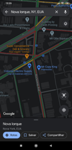 Google Maps dark mode sample 2