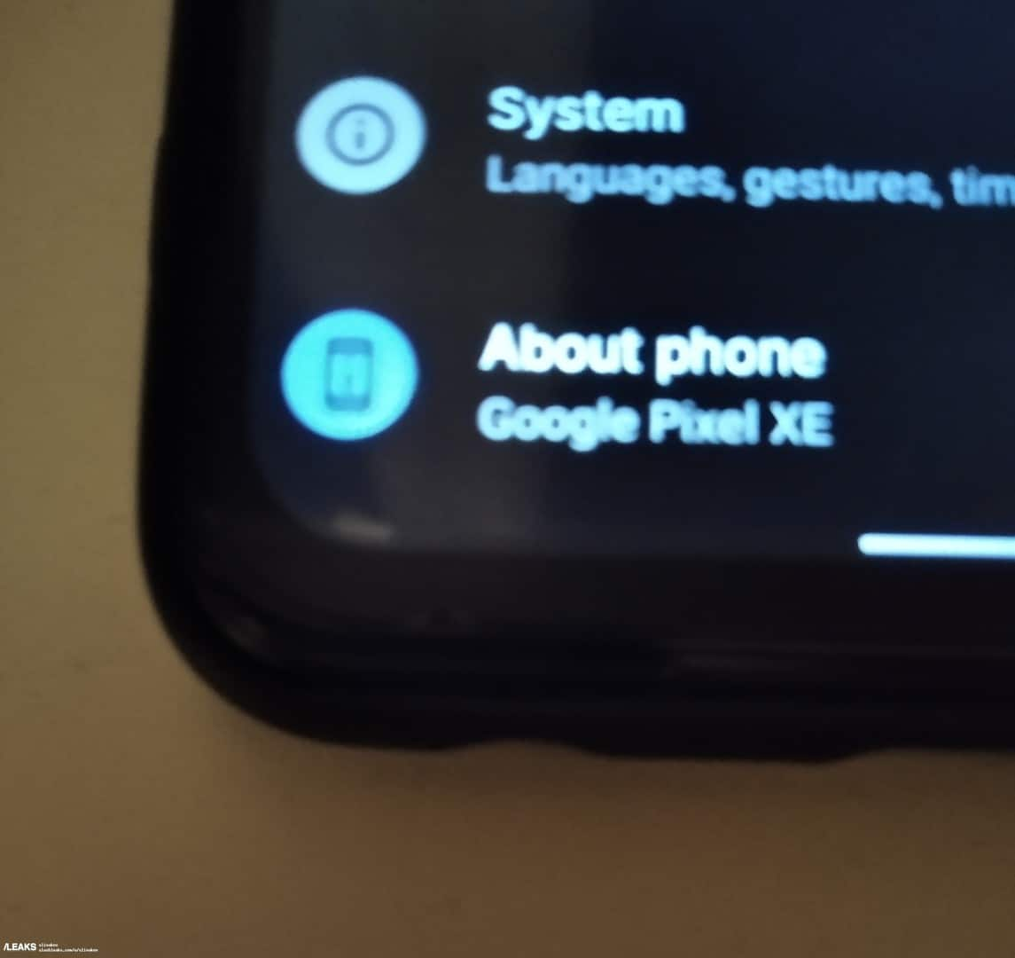 Google Pixel XE live image leak 3