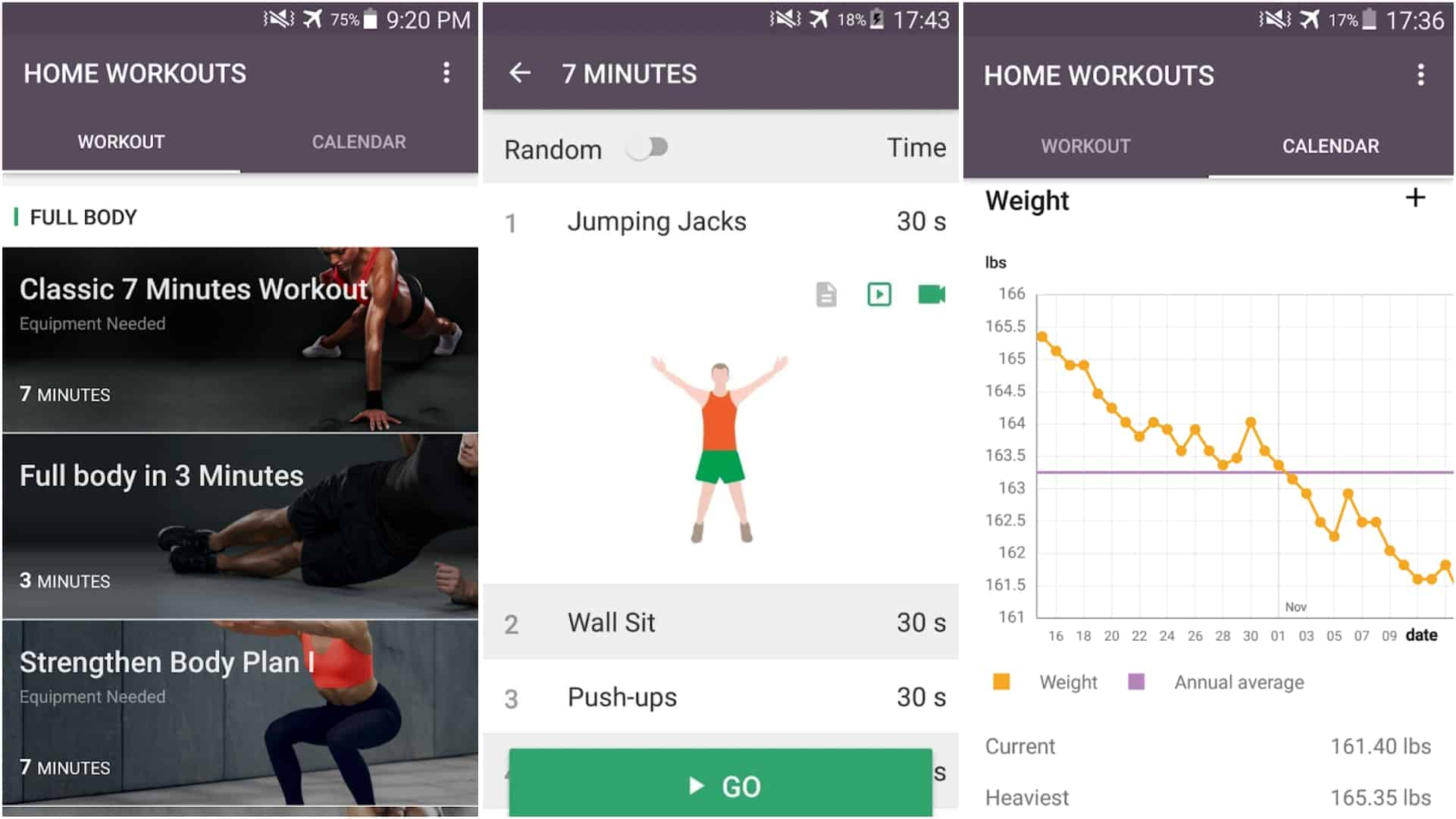 Home Workout No Equipment Meal Planner app grid