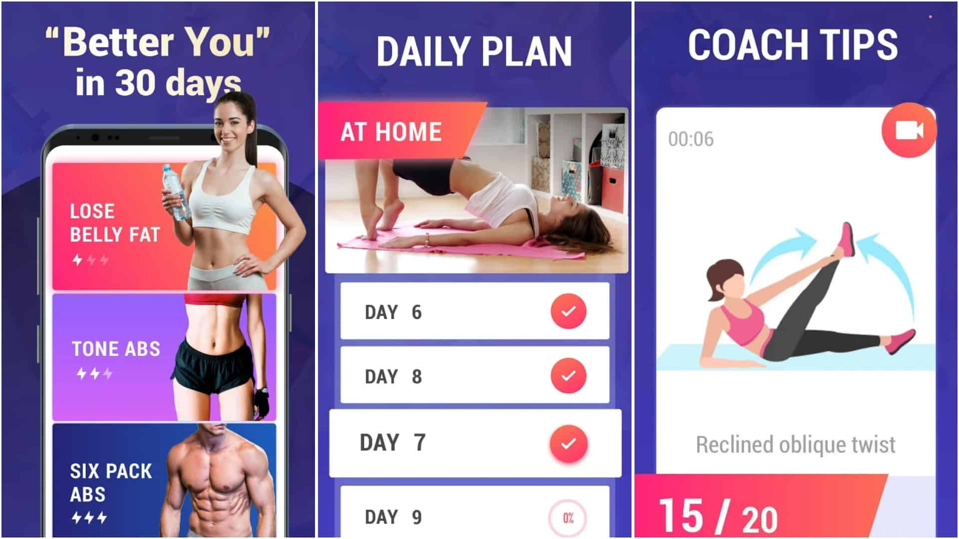 Lose Belly Fat at Home Lose Weight Flat Stomach app grid