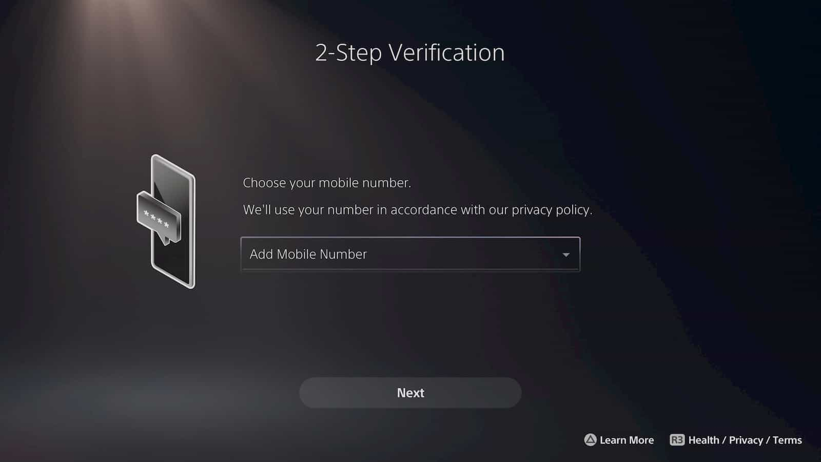 PS5 Two Factor Authentication 3