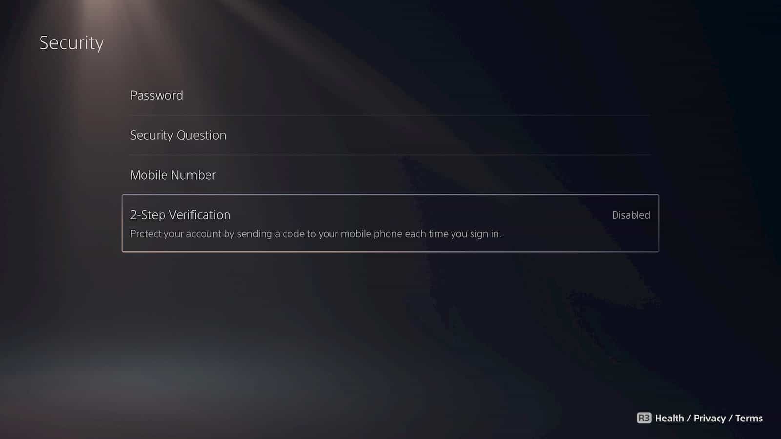 PS5 Two Factor Authentication 5