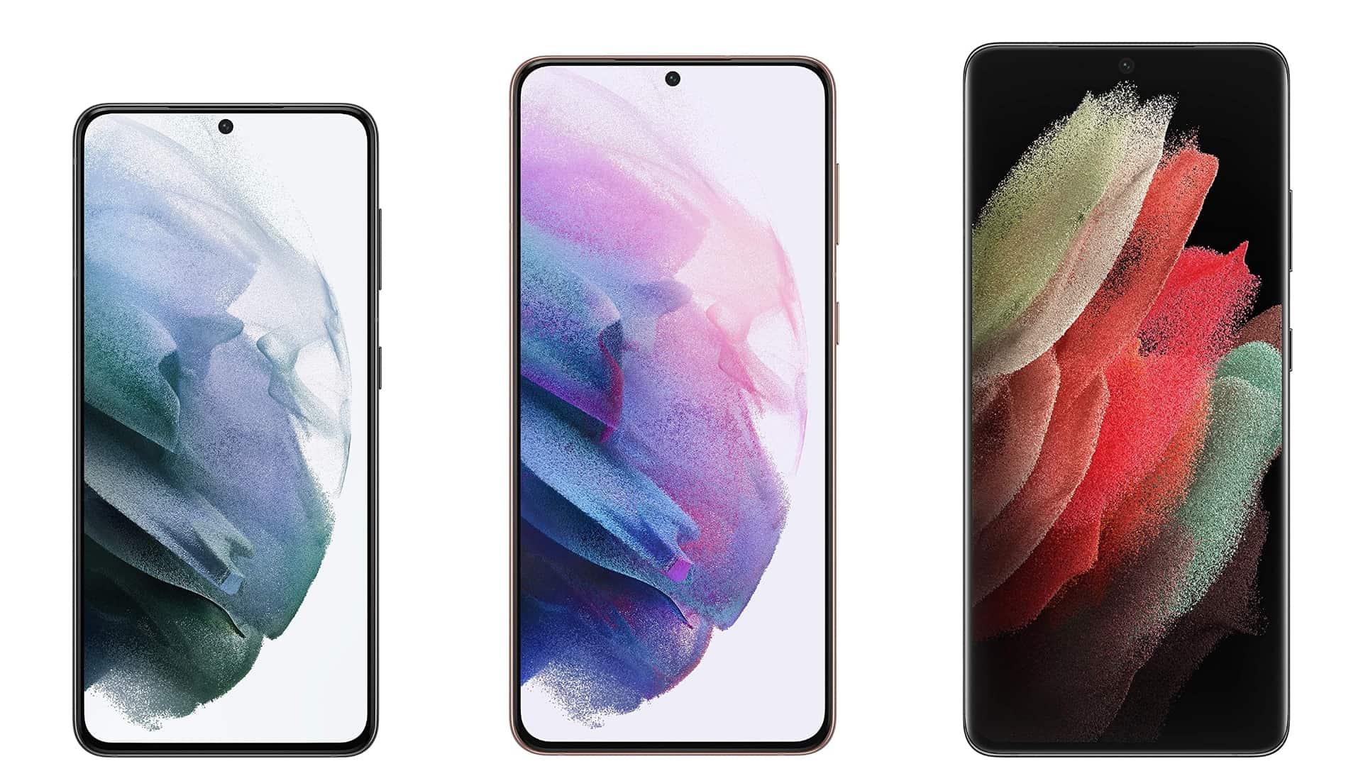 Samsung Galaxy S21 series render