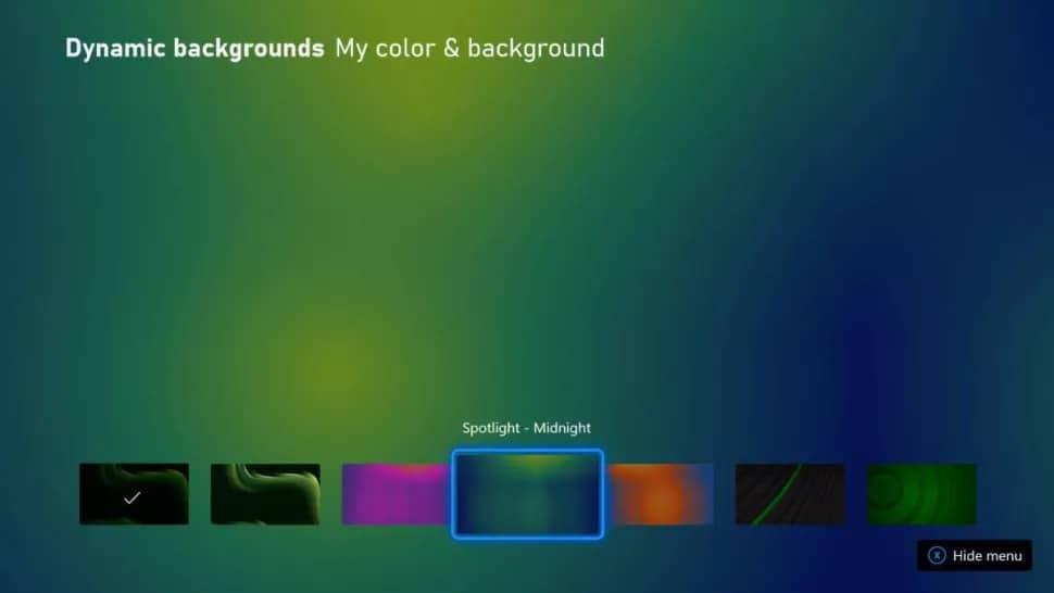Xbox Series X Dynamic Backgrounds