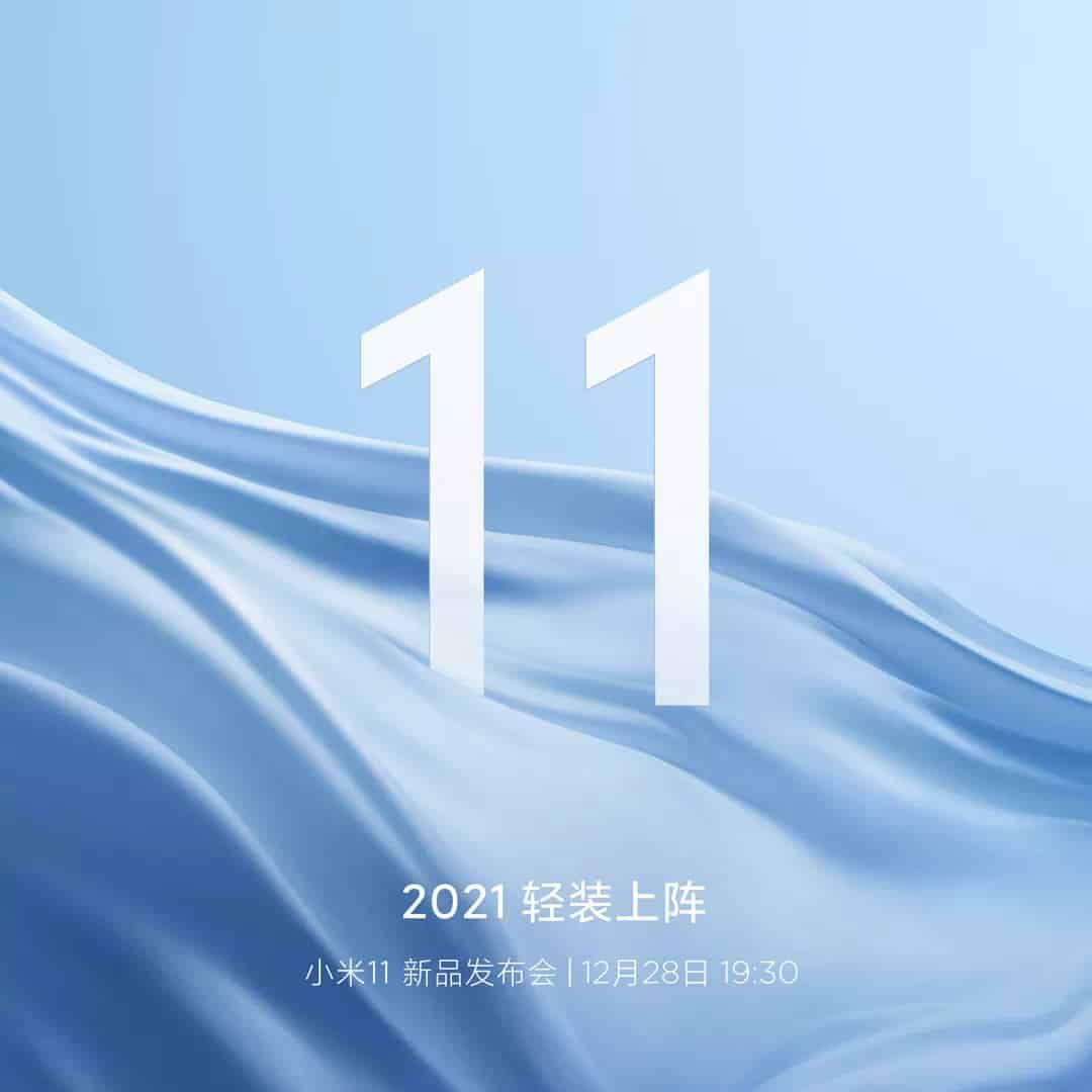 Xiaomi Mi 11 launch date confirmation