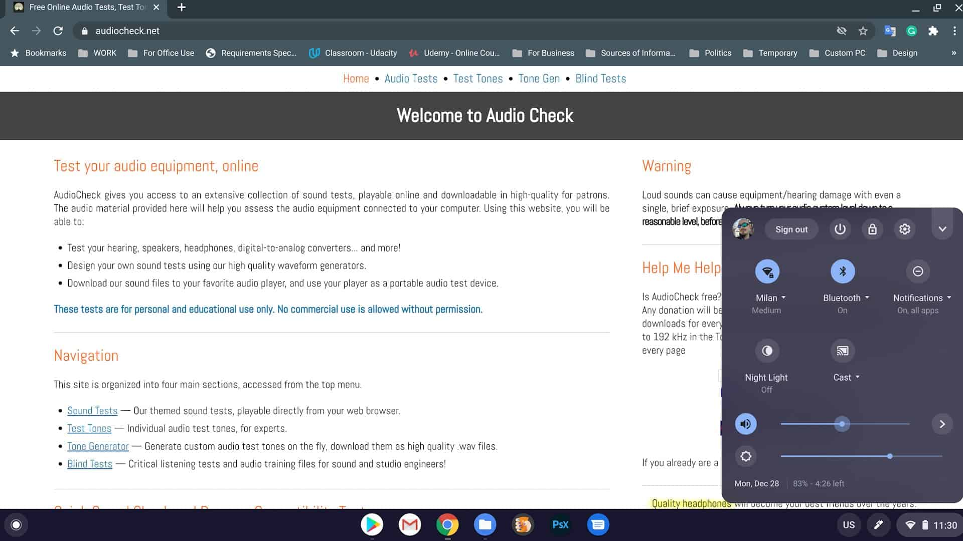 how to test audio quality audiocheck 02
