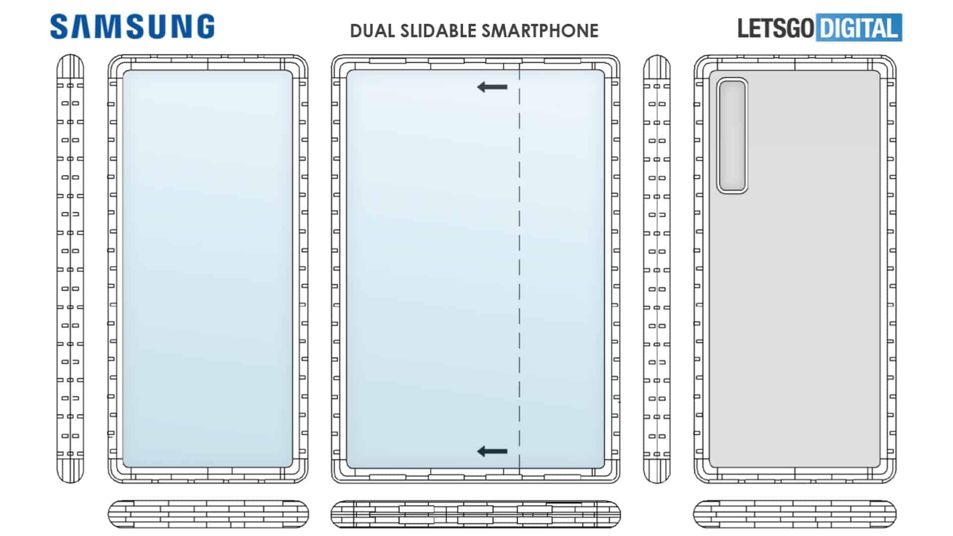 01 Dual Sliding Smartphone Samsung patent from LetsGoDigital
