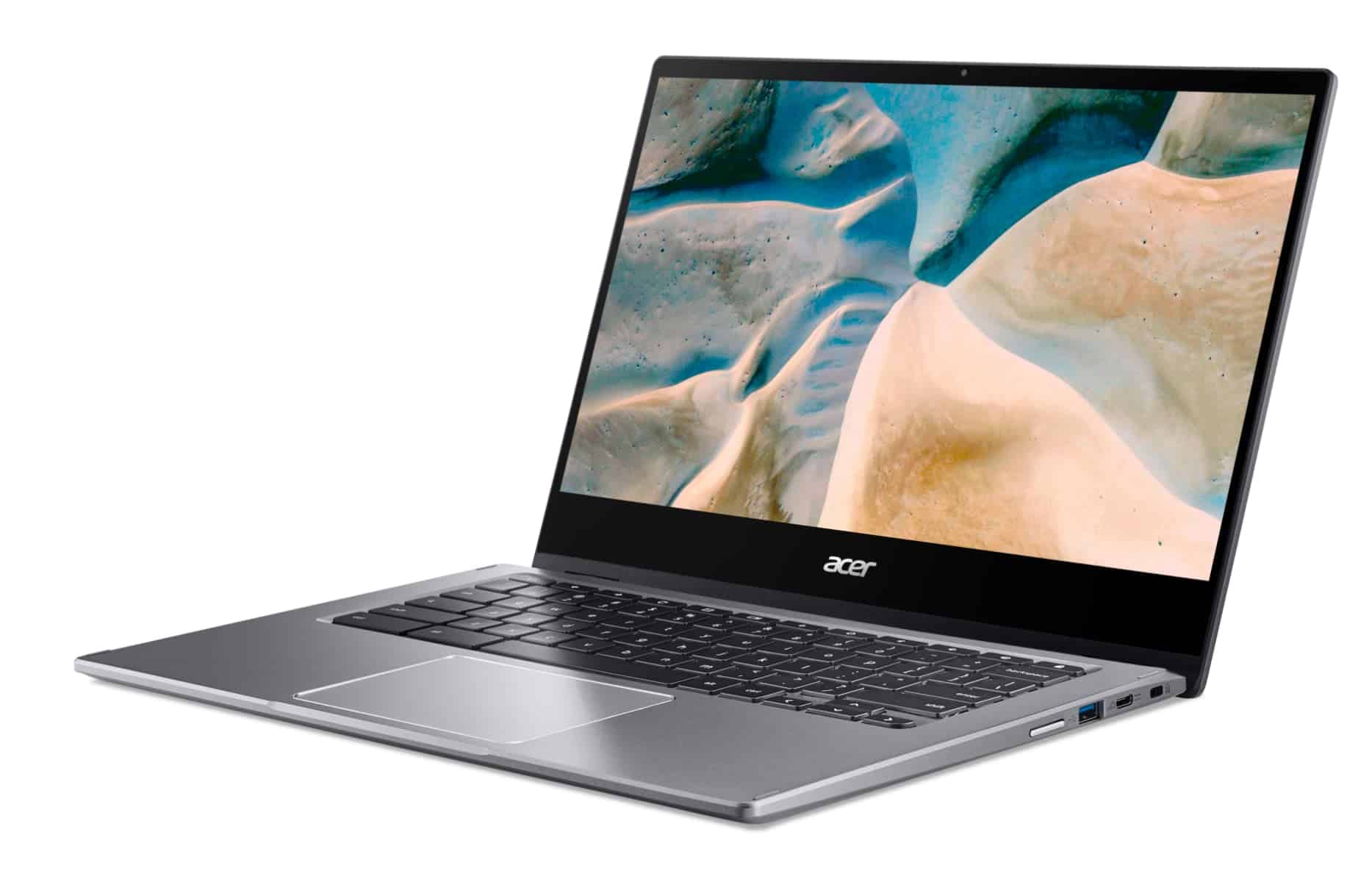 02 presser Acer Chromebook Spin 514 CP514 1H left facing