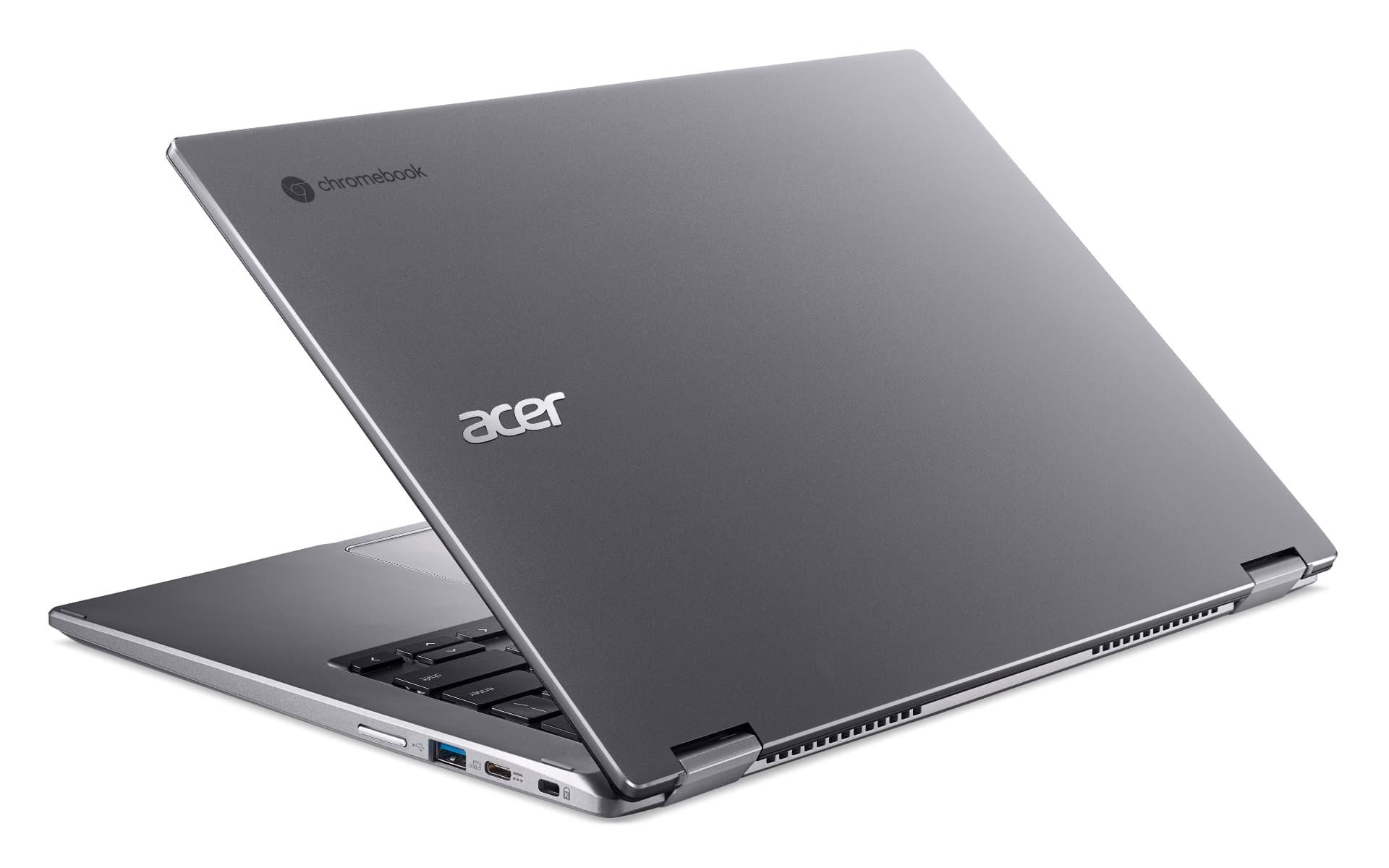 03 presser Acer Chromebook Spin 514 CP514 1H rear left facing