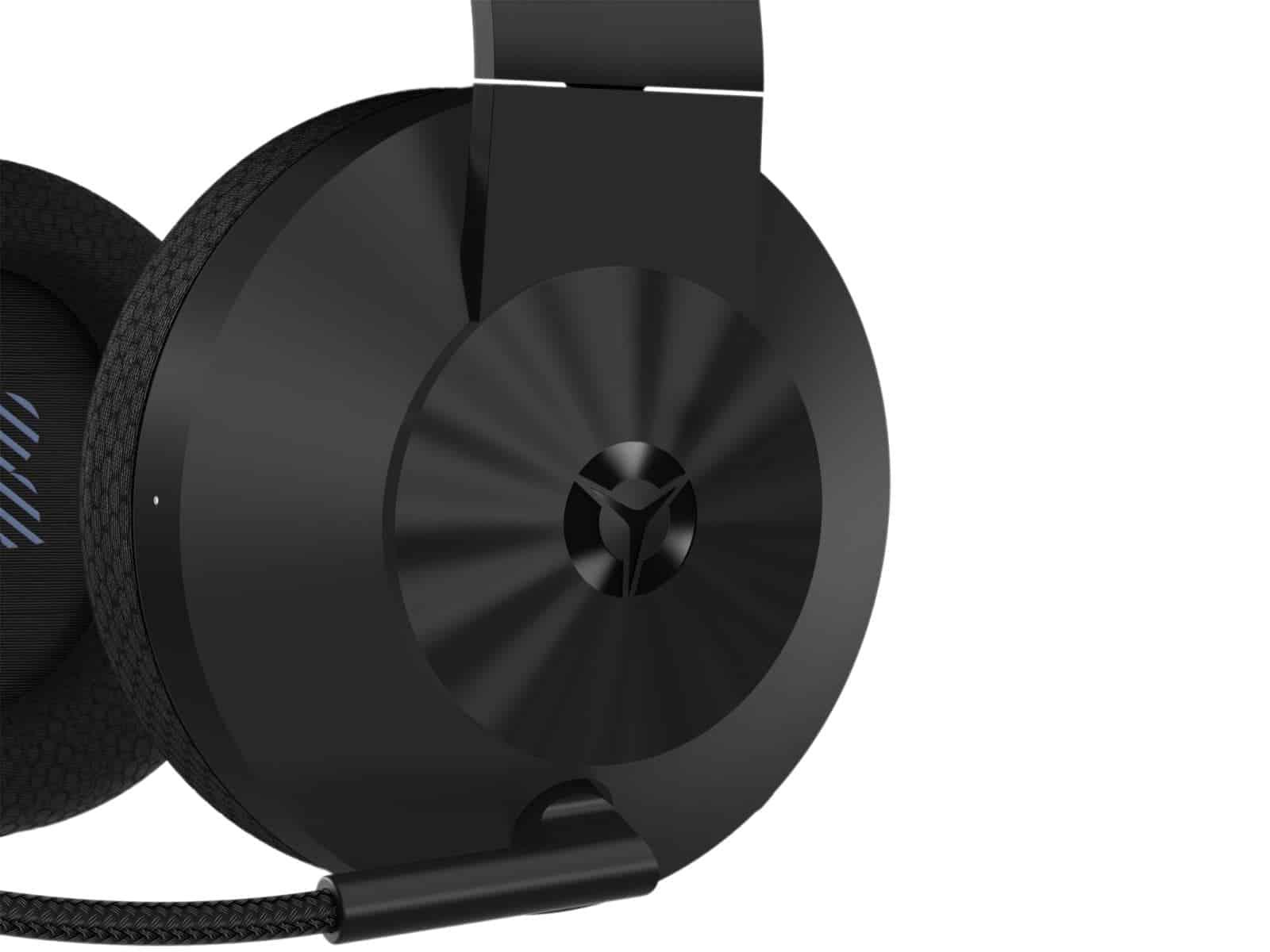 05 Lenovo Legion H600 Wireless Gaming Headset Closeup Logo