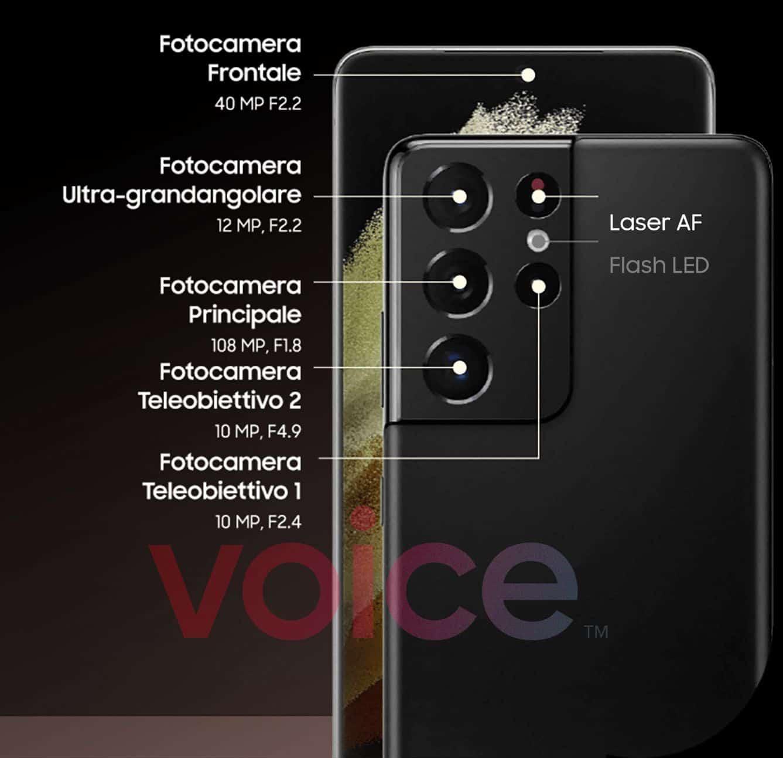 Galaxy S21 Ultra camera details