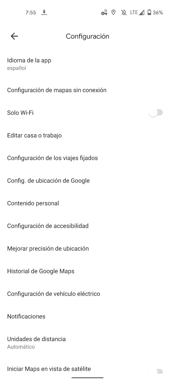 Google Maps app language 4