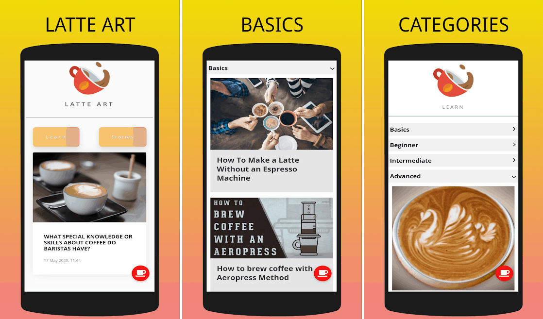 Latte Art best android coffee apps