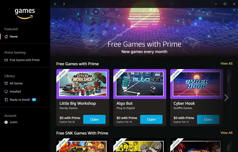 Prime Gaming Amazon Games Launcher
