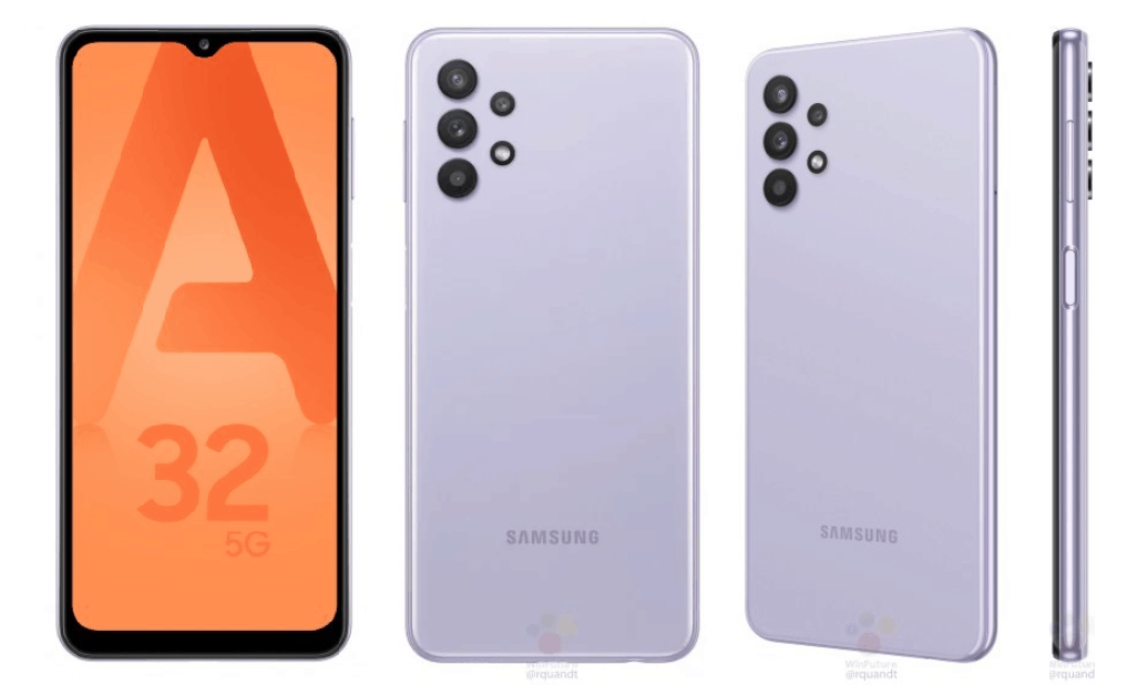 Samsung Galaxy A32 5G leaked renders