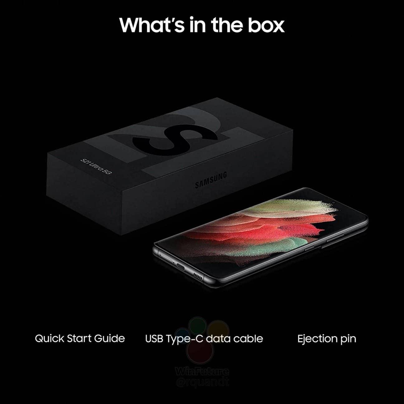 Samsung Galaxy S21 Ultra retail box leak 1