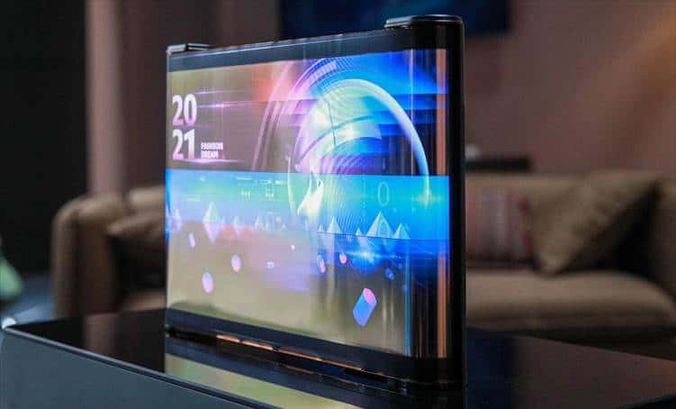 TCL CSOT Rollable scrolling OLED display ces 2021 2