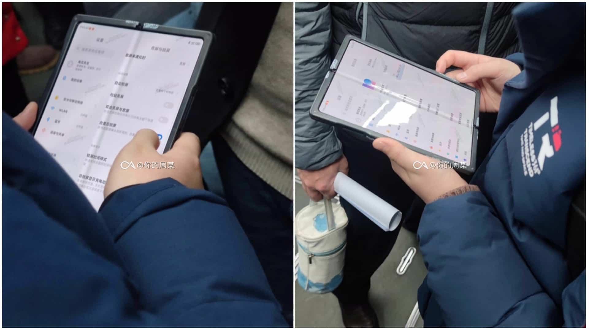 Xiaomi foldable smartphone live image leak featured