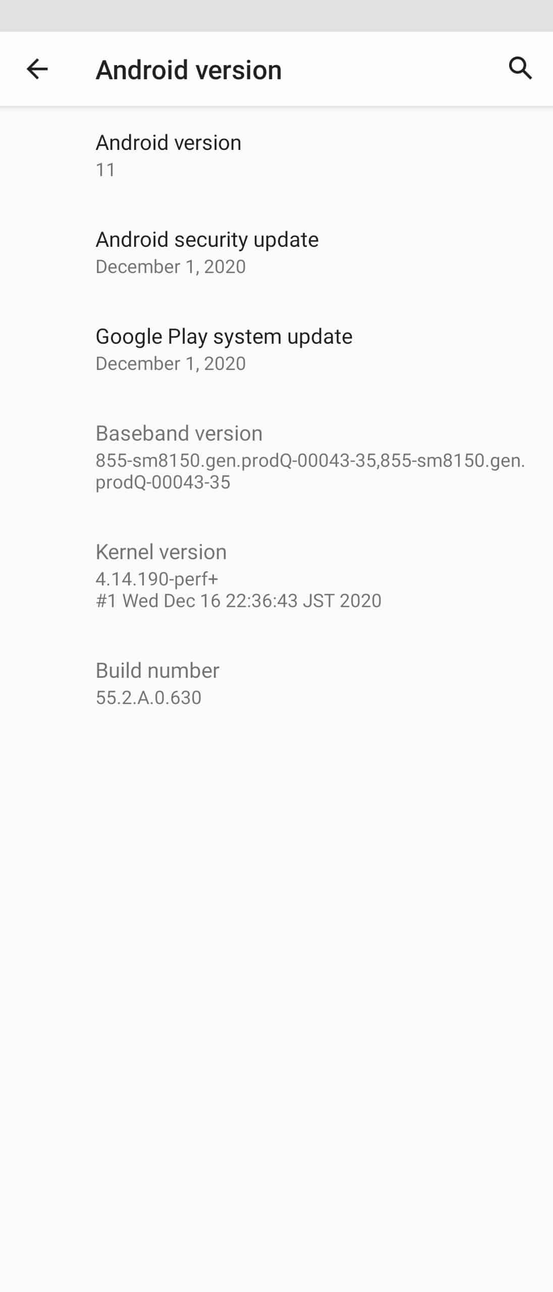 Xperia 1 android 11 update