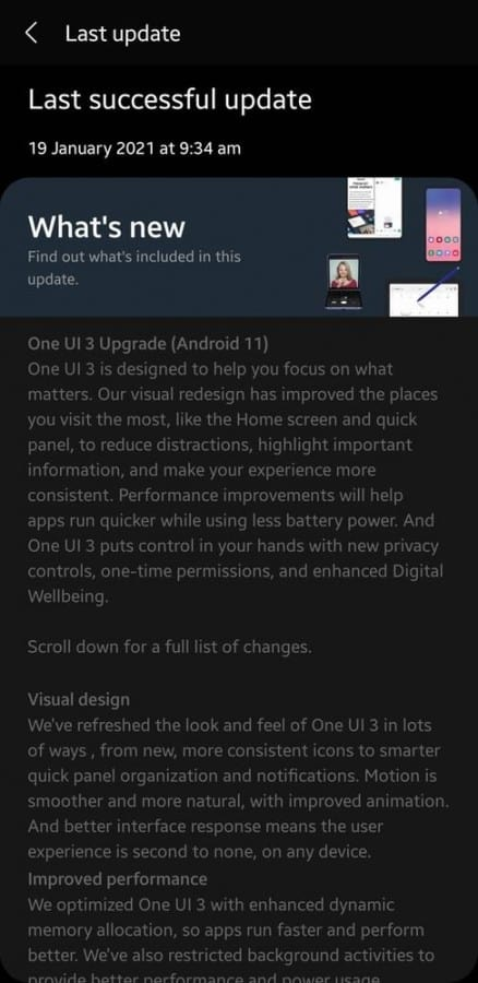 galaxy m31 android 11 one ui 3 0 update