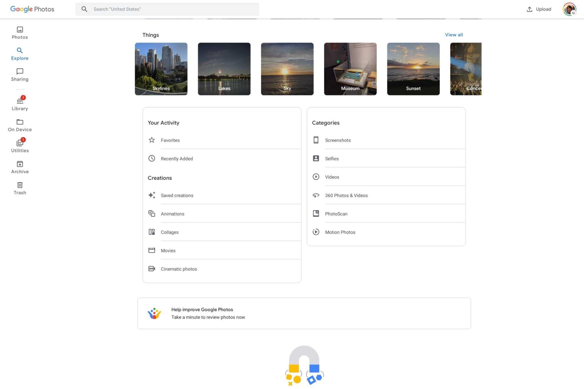 google photos tablet optimized interface 2