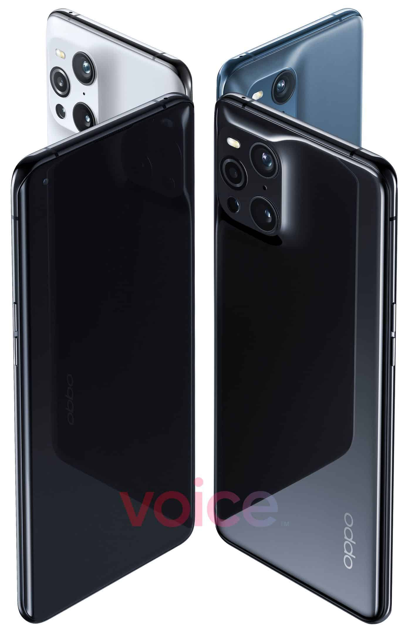 oppo find x3 pro side front