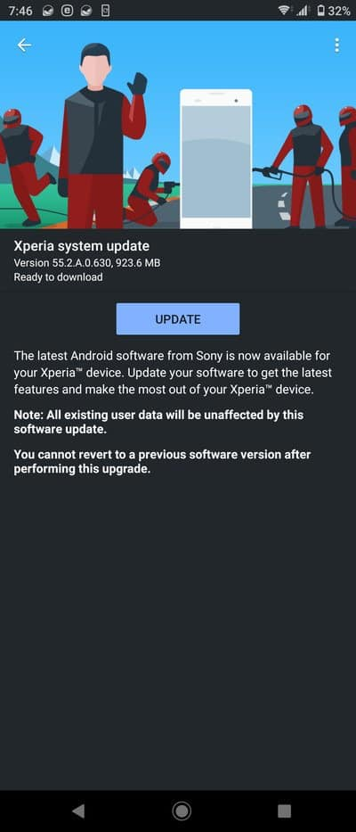 xperia 5 android 11 update