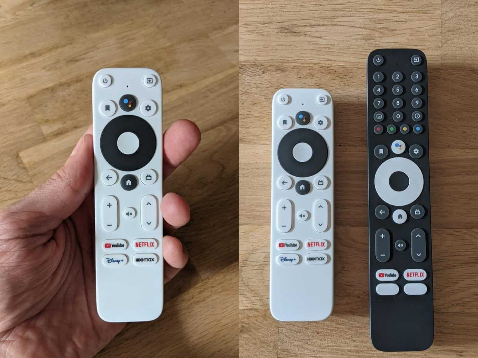 02 Google TV remotes reference designs IRL from Android TV Guide Twitter