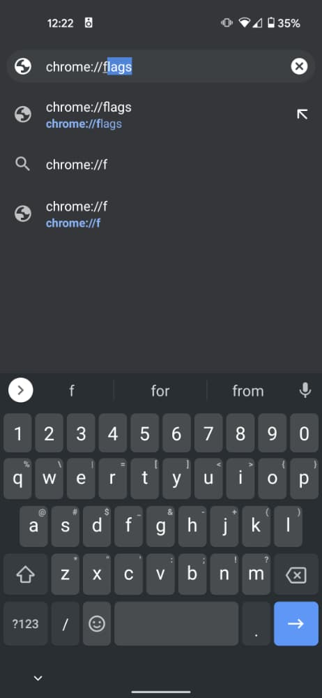 04 disable chrome tab groups grid view Android