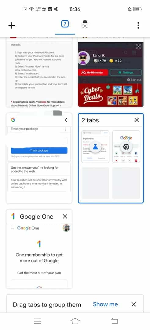 12 how to tab groups android