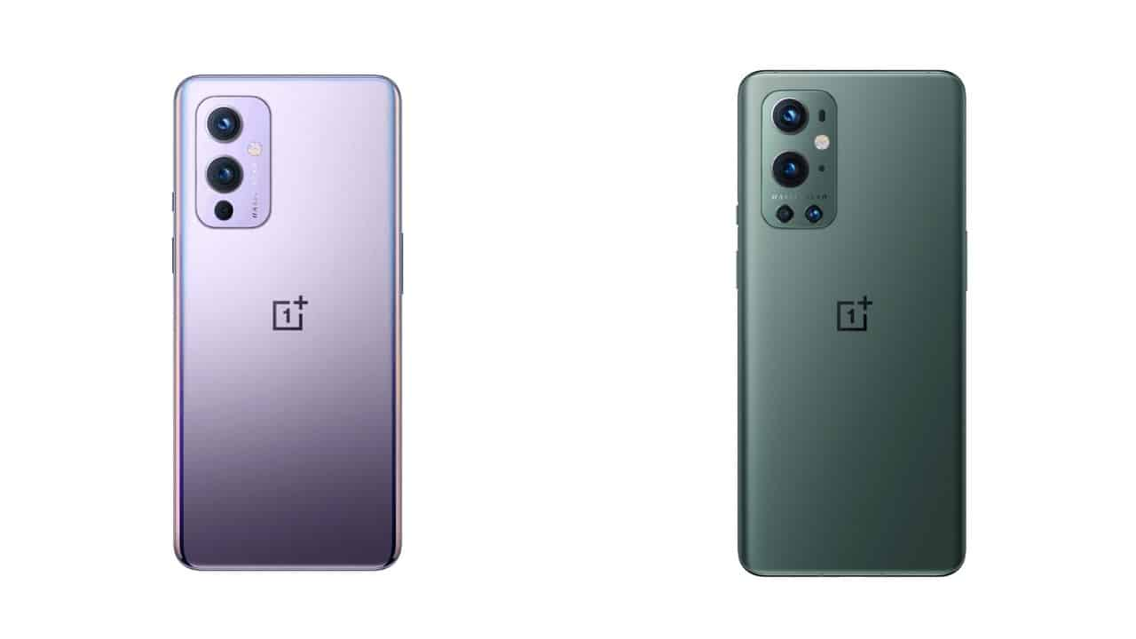 AH OnePlus 9 and 9 Pro back renders