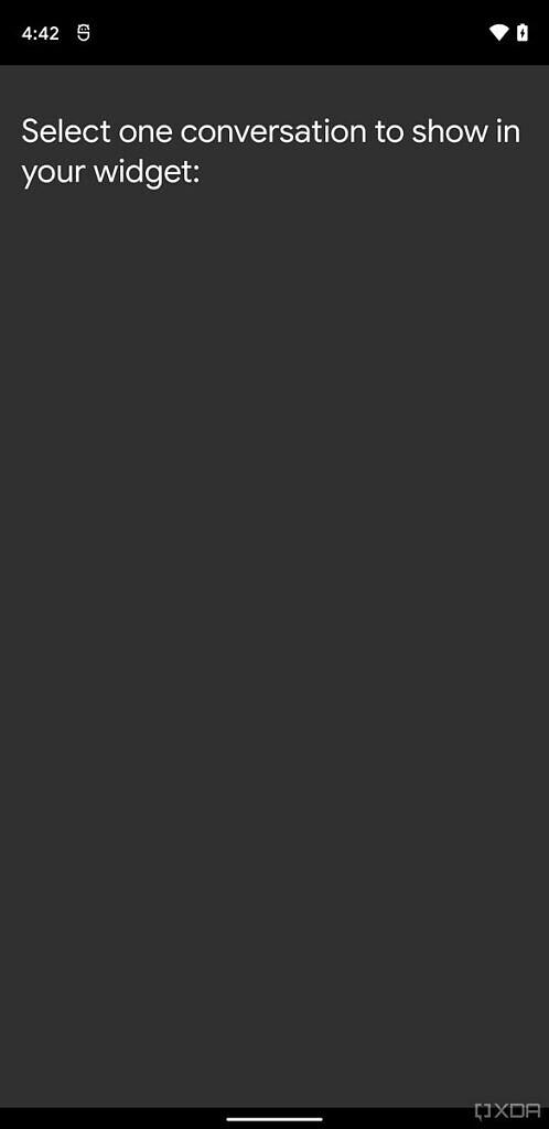 لقطة شاشة Android 12 المحادثات القطعة