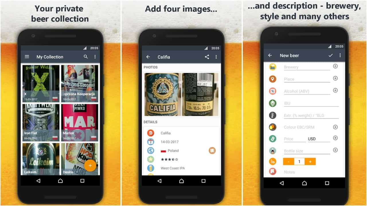 Beers app grid