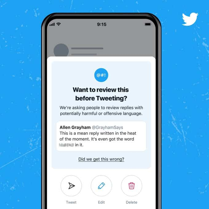 Twitter Wants You To Think Twice Before Sending Harmful Replies