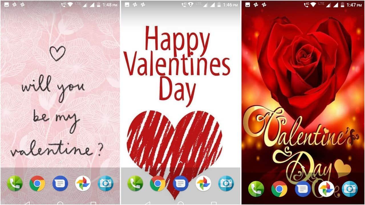 Valentines Day wallpaper app grid