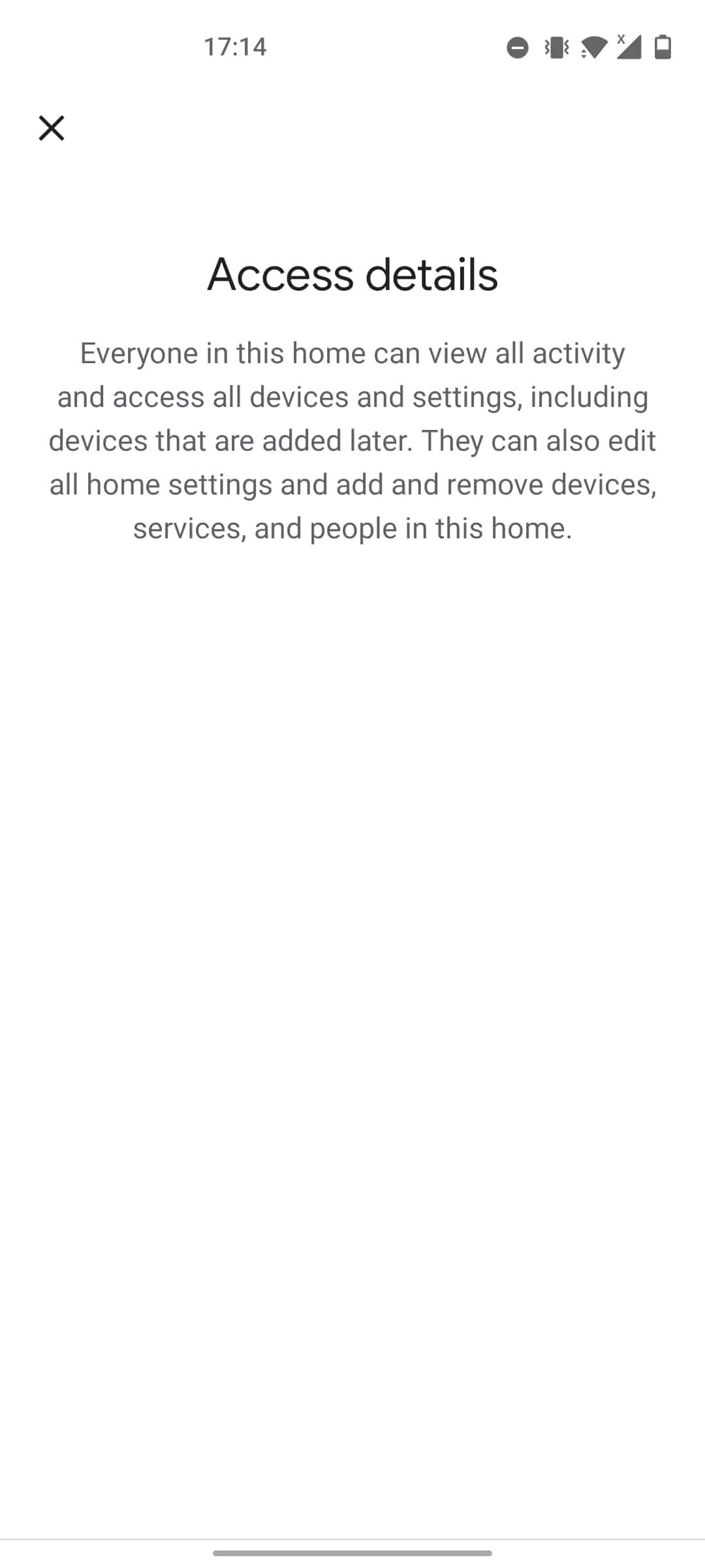 google home app access details