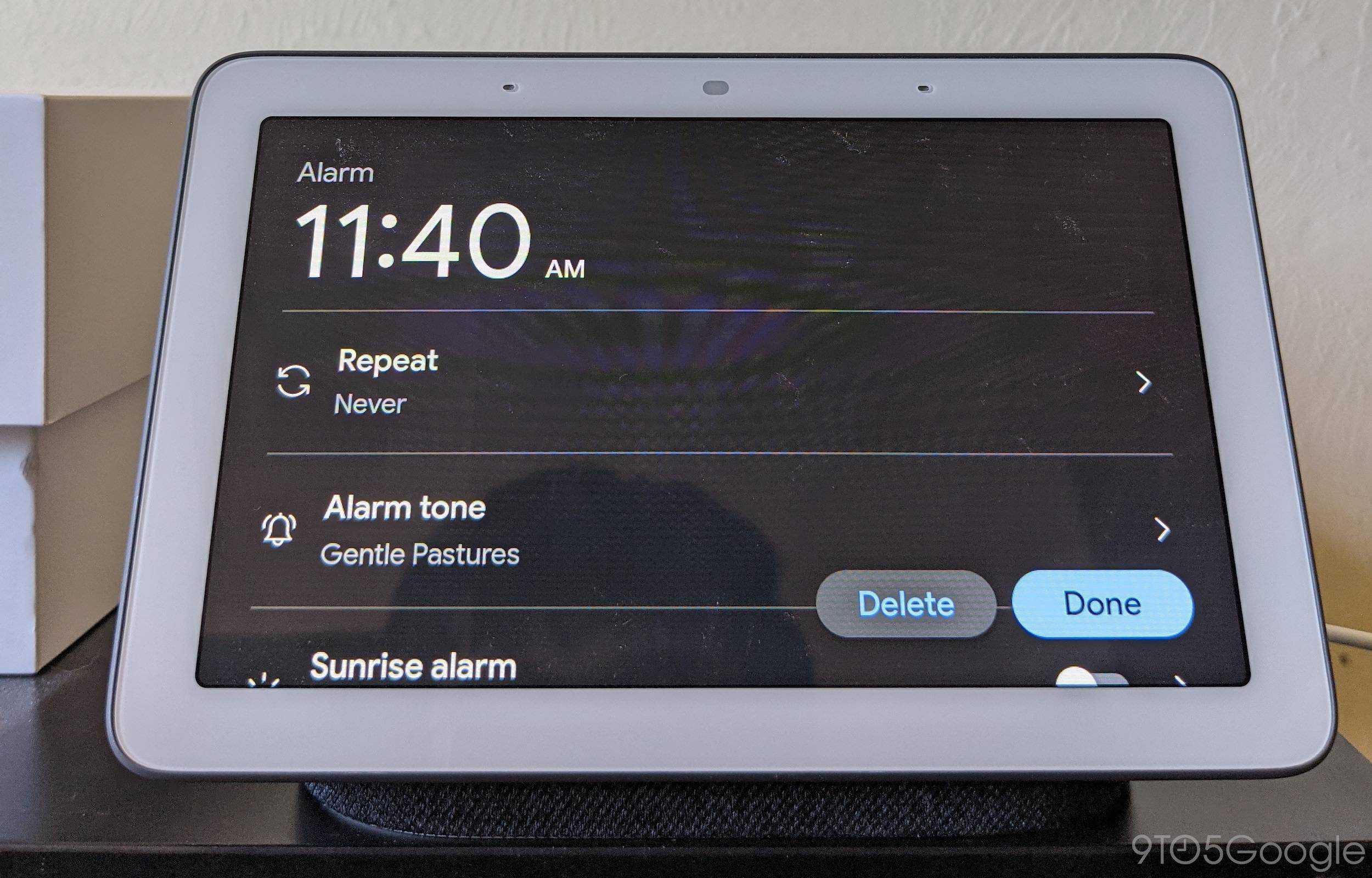 new Nest Hub alarms 1