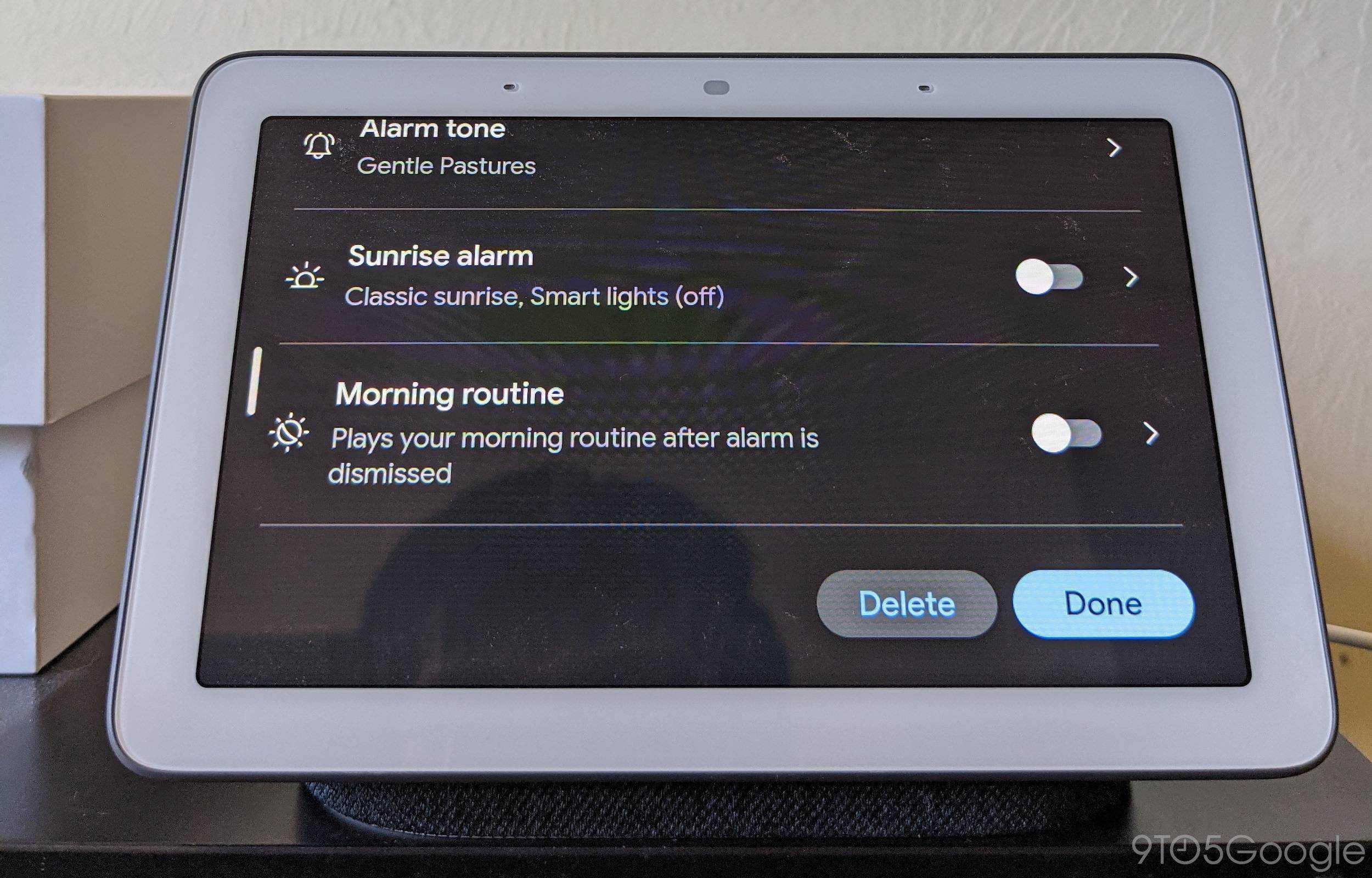 new Nest Hub alarms 2