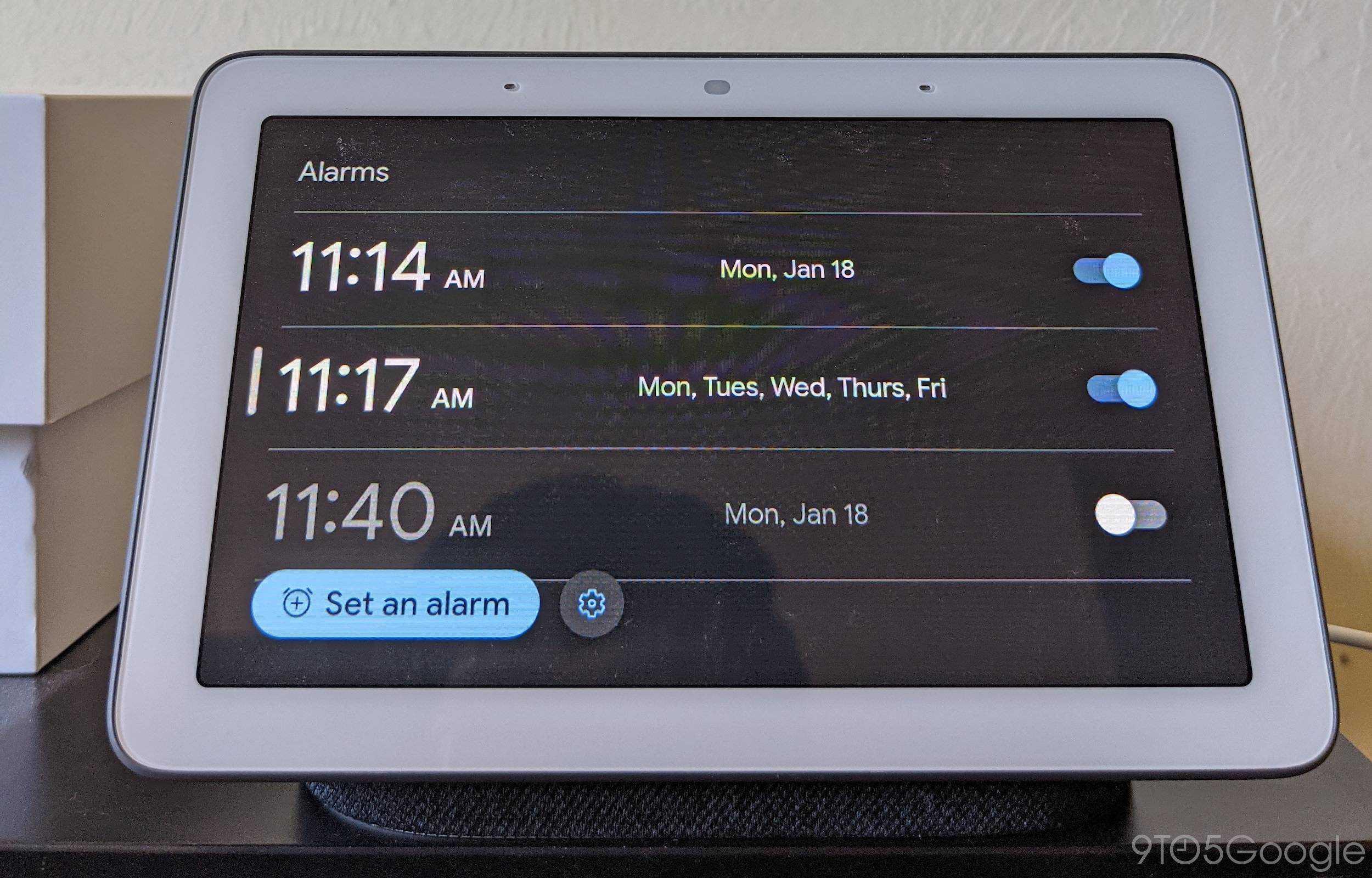 new Nest Hub alarms 5 1
