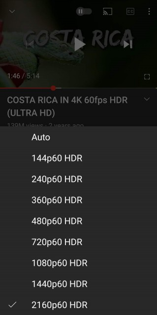 youtube for android 4k