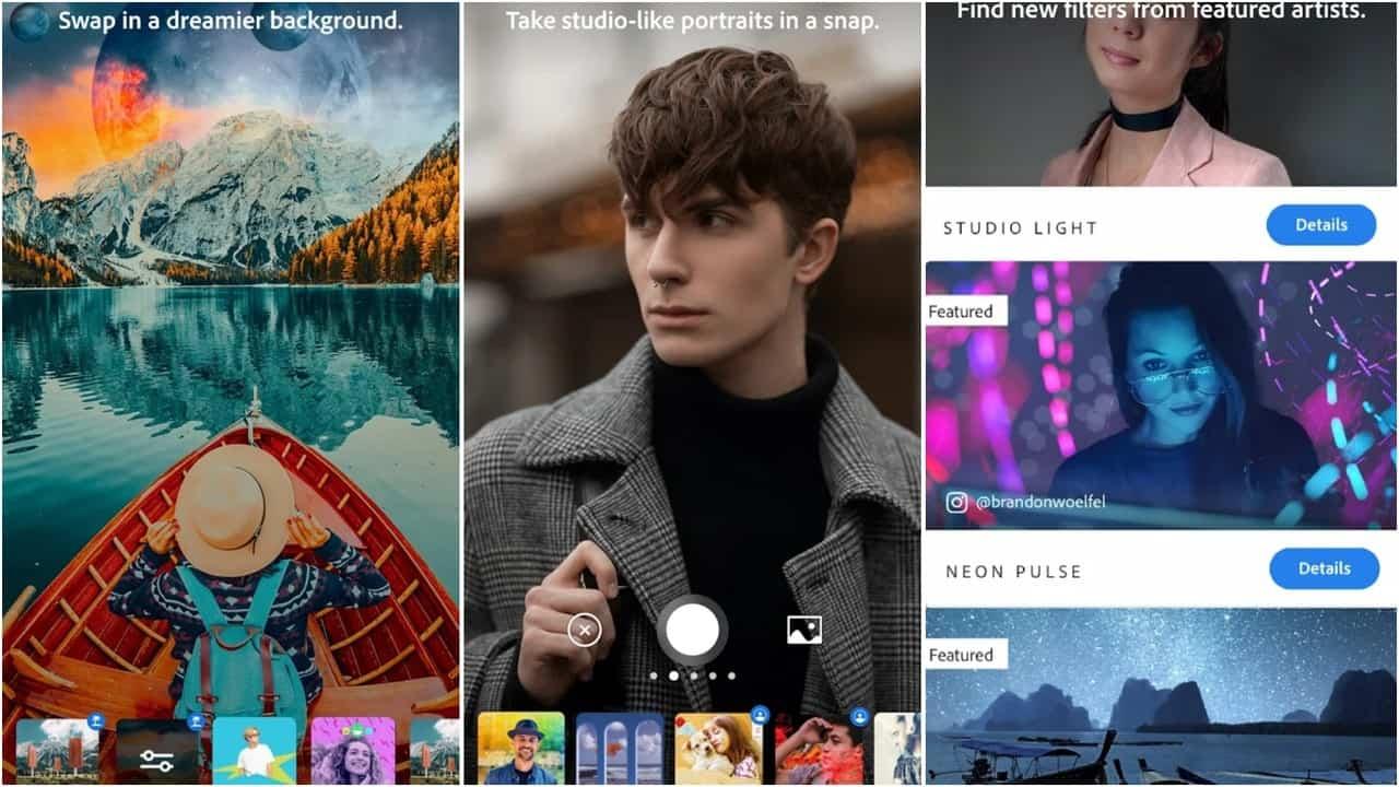 Adobe Photoshop Camera app grid